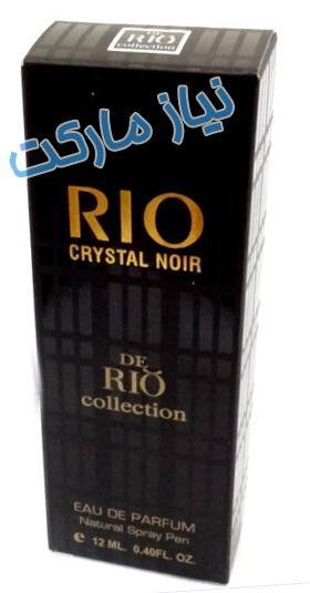 عطر جیبی 12 میلی Rio crystal noir