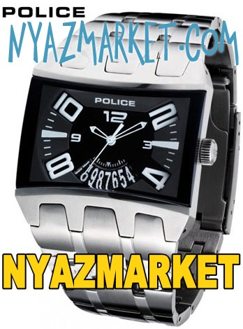 ساعت پلیس استیل مستطیلی اورجینال ,ساعت پلیس,خرید,فروش,پستی,اینترنتی,