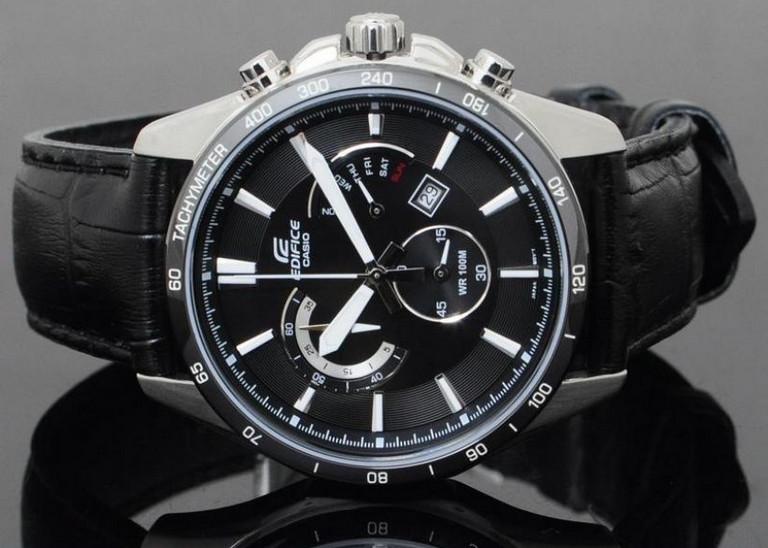 خرید ساعت کاسیو,ساعت مردانه سه موتوره,ساعت کرنوگراف,ساعت casio edfiice,ساعت سه موتور بند چرم,ساعت کاسیو مدل EFR-510L-1AVDF