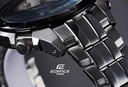 ساعت کاسیو مردانه مدل EF 535 رنگ مسی طرح سه موتوره اصل