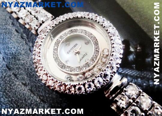 ساعت طرح نقره - خرید ساعت نقره - فروشگاه ساعت های سیک و زیبا - ساعت اصل و اورجینال - ساعت زنانه نگین دار - قیمت ساعت