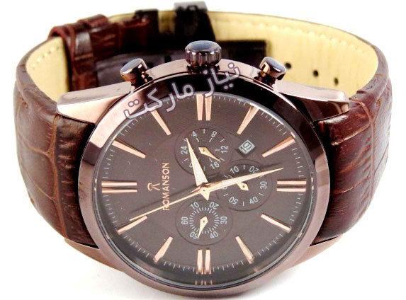 b92f69000 خرید ساعت مچی رومانسون بند قهوه ای تیره شکلاتی سه موتوره اصل romanson