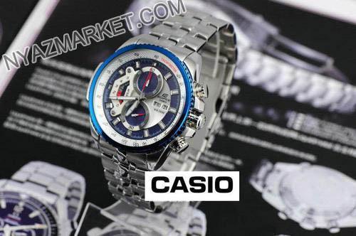 ساعت کاسیو مردانه دور آبی مدل CASIO EF 558 کاسیو طرح اصل