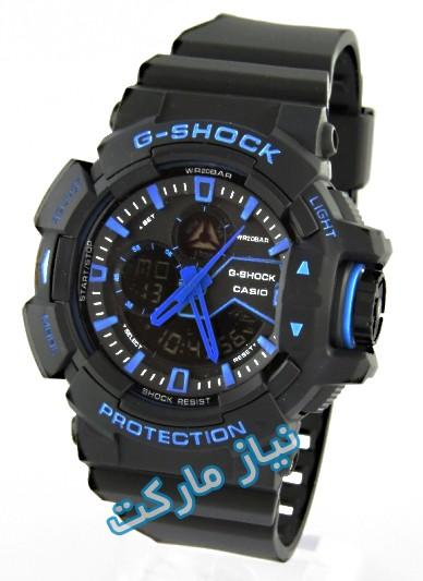 ساعت دیجیتالی جی شاک , ساعت جی شاک مردانه , ساعت های کپی,فروش ارزان ساعت g-shock,ساعت casio دو زمانه ,ساعت مشکی آبی با گارانتی