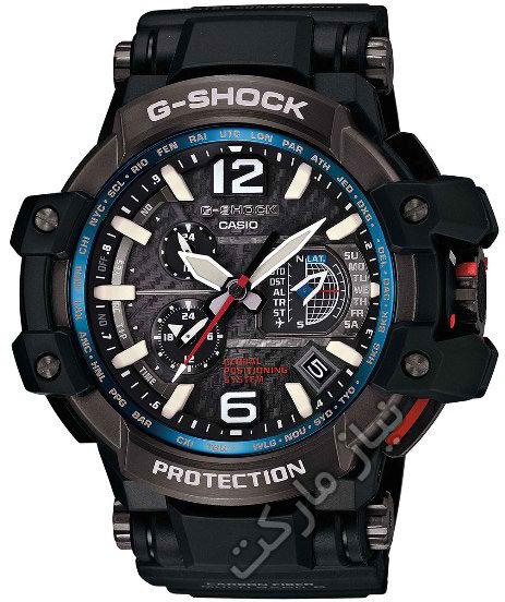 فروش اینترنتی ارزان ساعت مچی جی شاک دو زمانه مدل g-shock  GPW1000-1A طرح سه موتوره اصل