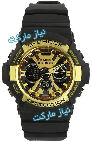 ساعت جی شاک طلایی , خرید ساعت جیشاک دیجیتالی,ساعت دو زمانه,ساعت جی شاک مدل ga-200 ,فروش ساعت casio g-shock ga 200