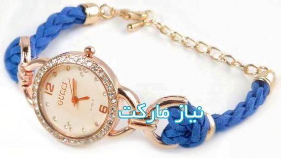 خرید اینترنتی ساعت گوچی بند بافتنی مد روز gucci  دور مسی