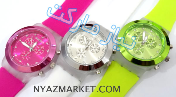 خرید ساعت سواچ,ساعت بند ژله ای پسرانه و دخترانه,خرید ساعت سیلیکونی,ساعت زله ای جدید سواچ swatch