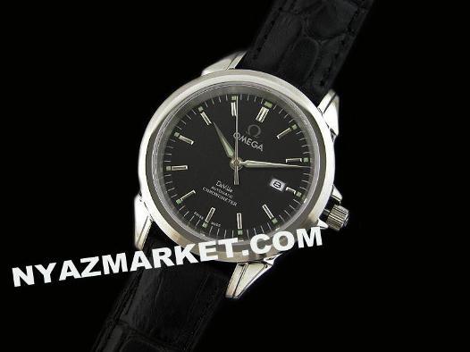 خرید ساعت - ساعت مچی - ساعت مردانه بند چرم - فروش ساعت امگا- ساعت صفحه گرد اومگا - فروشگاه ساعت omega