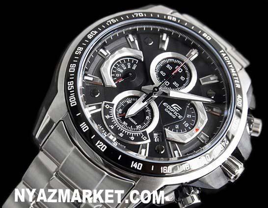 خرید ساعت - فروش ساعت - فروشگاه ساعت مچی کاسیو - خرید اینترنتی ساعت اورجینال - خرید پستی ساعت ادیفایس - ساعت casio ساعت اورجینال کاسیو CASIO-EF-560D-1AVDF Chronograph  -