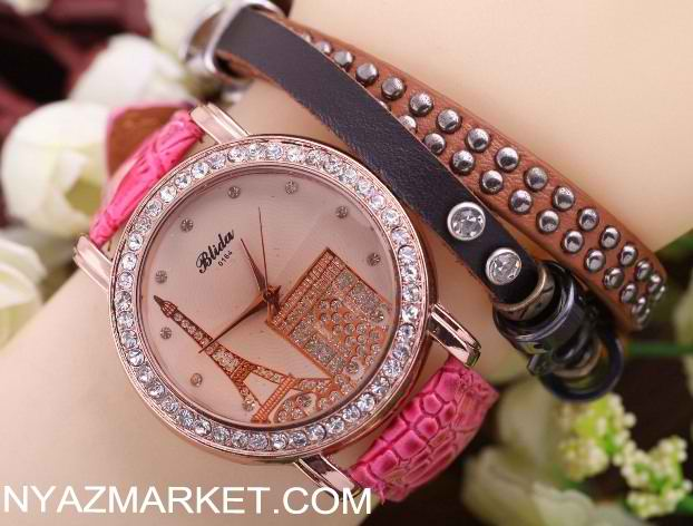 ساعت برج ایفل , خرید ساعت مچی پاریس , فروش ساعت دخترانه مدل پاریس , خرید اینترنتی پستی ساعت فانتزی زنانه شیک ارزان قیمت , سفارش Eiffel Tower