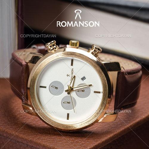 خرید ساعت رومانسون,ساعت بند چرمی مردانه,نمایندگی ساعت های های کپی,ساعت رومنسون,فروش ساعت رومانسون, ساعت مچی Romanson مدل Key West,قیمت ساعت مچی رومانسون چرمی