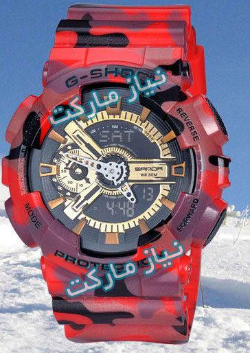 خرید اینترنتی ساعت جی شاک ارتشی قرمز سبز برند رنجر g-shock casio