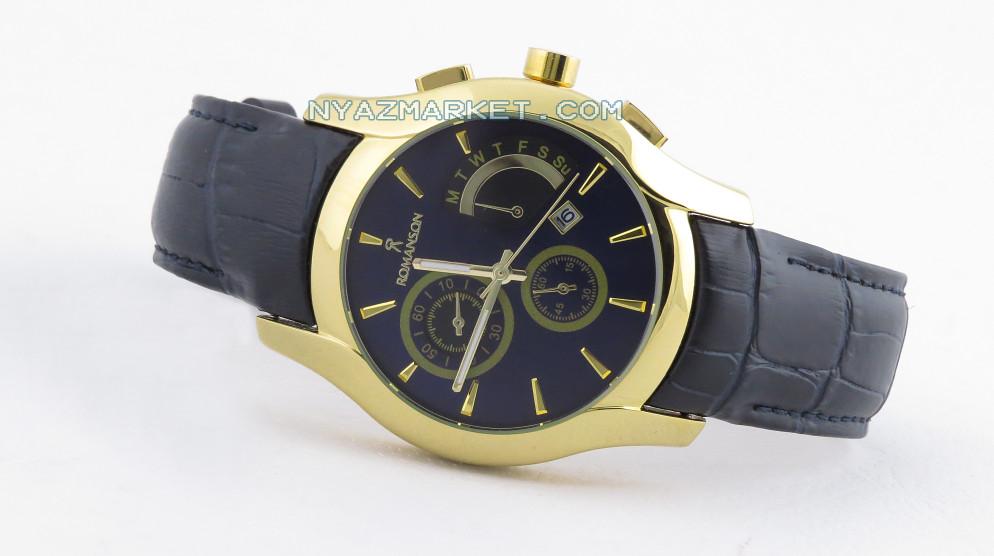 خرید ساعت رومانسون,ساعت مچی مردانه رومانسون,قیمت ساعت رومانسون,ساعت مچی تک موتوره,ساعت طرح سه موتوره بند چرمی,نمایندگی ساعت رومنسون,ساعت رومانسون مدل m-110ga,ساعت مچی romanson
