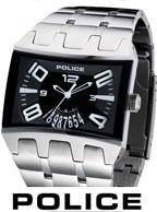 خرید ساعت پلیس استیل مستطیلی اورجینال  - ساعت اسپرت 2013 Police