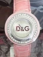 ساعت زنانه نگین دار مارکدار - خرید اینترنتی ساعت دخترانه D&G