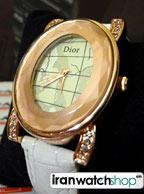 ساعت زنانه مارک دار دیور Dior بند چرم